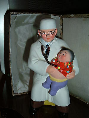 VINTAGE MEDICAL LIFE FOR CHILDREN CHINESE JAPANESE  DOCTOR FIGURE STATUE