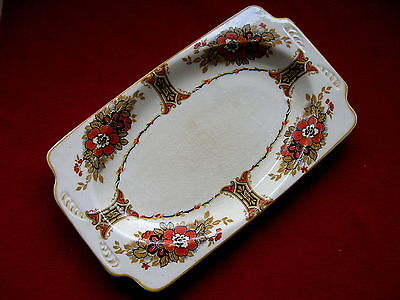 Woods Ivory Ware Crown England Sandwich Plate Tray