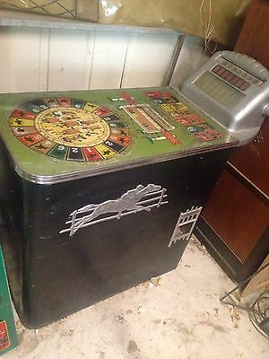 Antique 1938 Buckley Track Odds Horse Racing Payout  Betting Game Machine