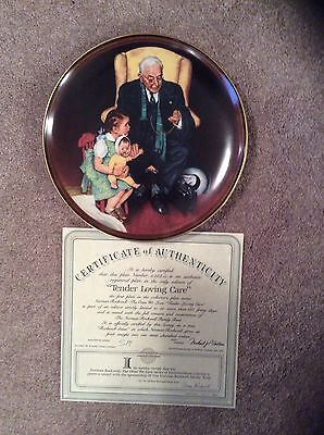 Norman Rockwell set of 2 Plates