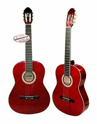 Fever Full Size Nylon Classical String Guitar Red