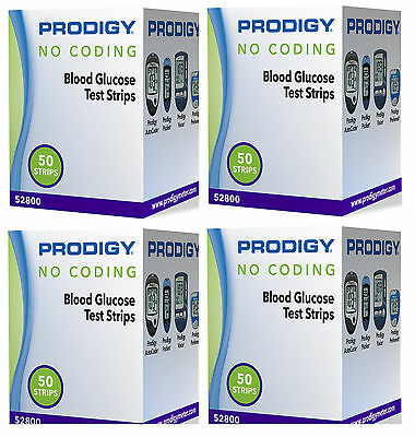 Prodigy Autocode Blood Glucose Test Strips 4 boxes of 50