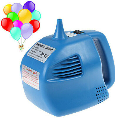 Single Nozzle Balloon Inflator 400W Electric Balloon Pump Blue Air Blower Party