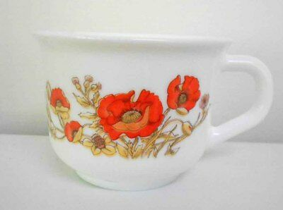 Arcopal 'red Poppy' Tea Cup - Excellent Condition