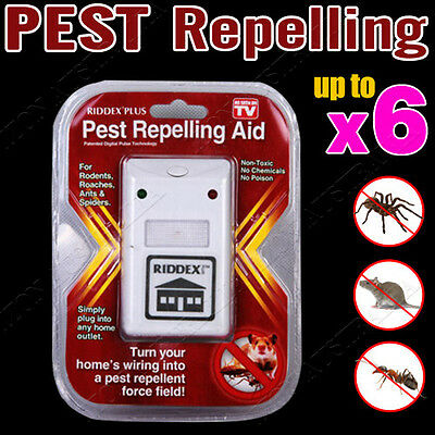 RIDDEX Plus Electronic Ultrasonic Pest Control, Repeller, Spiders Rats Mice AU
