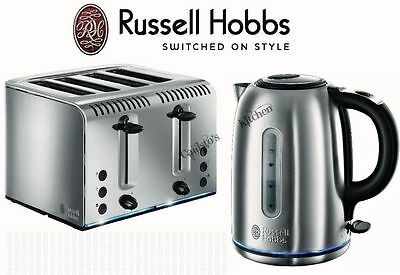 Russell Hobbs Kettle and Toaster Set  4 Slice Wide Slot Toaster & Jug Kettle New