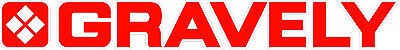Gravely Tractor Vinyl Decal Sticker - Red With White Outline - Set Of 2