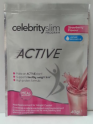 Celebrity Slim Active Strawberry Sachets 40g - NEW PRODUCT!!!