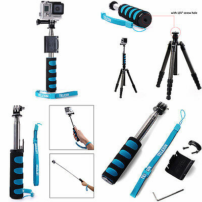 GoPro Extendable Sport's Cam Selfie Stick with Wifi Remote Holder Case