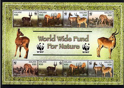 Malawi 2003 Antelopes Sheetlet 8 (2 Sets 4) MNH