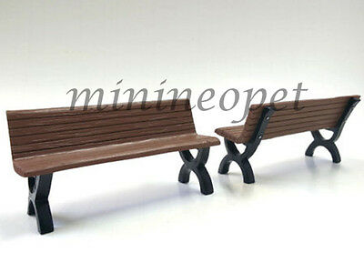 American Diorama Bench Accessory 2 Pieces Set 1/18 Diecast Ad-23982