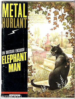 METAL HURLANT n°62 ~ 1981 ~ couv SABINE ~ ELEPHANT MAN/DAVID LYNCH/MOEBIUS