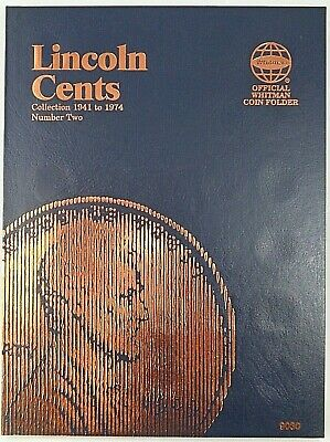 Whitman Lincoln Cents Vol#2  1941-1974 Coin Folder, Penny Album Book #9030
