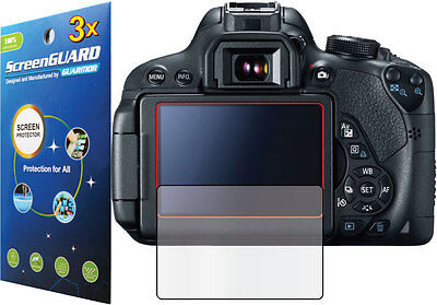 3x Clear or Anti-Glare Matte LCD Screen Protector for Canon Rebel EOS 750D T6i