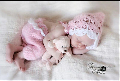 COOL Newborn Baby Pink Infant Knitted Crochet Costume Photo Photography Prop