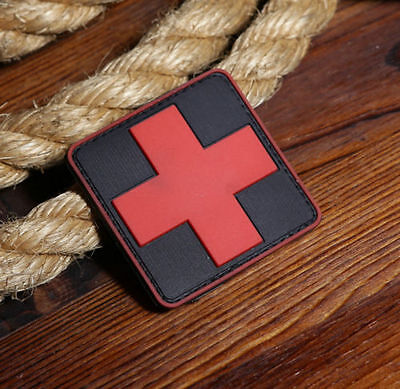 Jtg Medic Red Cross Paramedic 3D Tactical Army Morale Pvc Rubber Patch