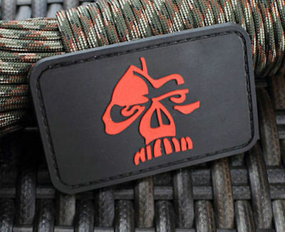 Gorilla Shadow Skull 3D Tactical Warrior Army Morale Pvc Rubber Patch