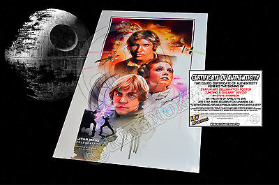 STAR WARS CELEBRATION Steve Anderson Uniting A Galaxy Poster - SIGNED + COA