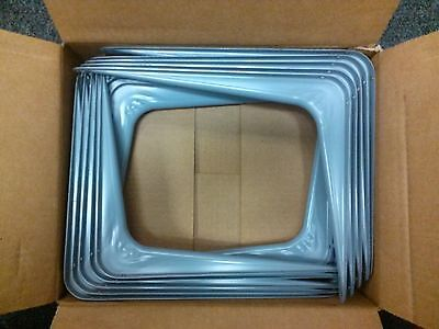 """New Steel Stanley Shelf Shelving Mounting Brackets - 10"""" x 12"""" - 2 Boxes of 20 -"""