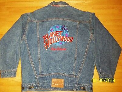 PLANET HOLLYWOOD NEW ORLEANS DENIM JACKET EXCELLENT CONDITION SMALL
