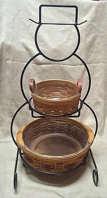 """Longaberger Wrought Iron Snowman Stand - 23"""" with only bottomLongaberger Baskets"""