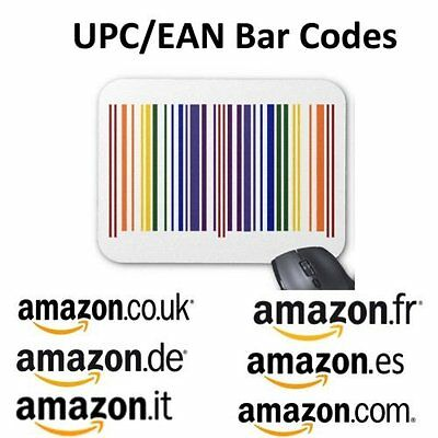 250 UPC EAN Codes Certified Numbers Barcodes For Amazon Ebay Lifetime Guarantee