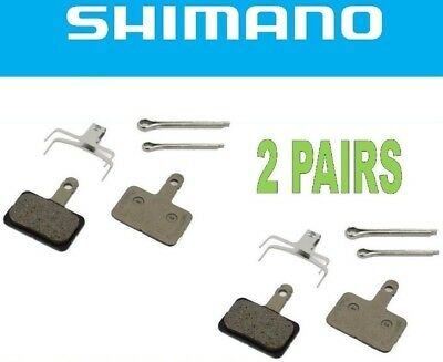 2 x Shimano Disc Brake Pads B01S Resin 100% Genuine MTB M525 M495 M475