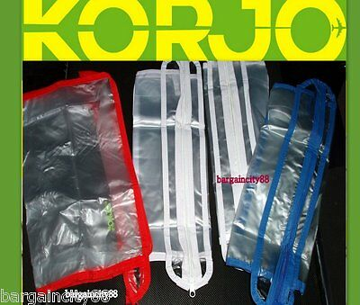 Korjo ZPB23 Zipped Plastic Packing Travel Luggage Clothes Shoe Storage Bags2/4/6