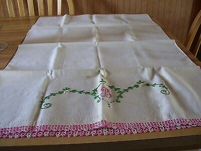 Vintage embroidered Monogramed  pillow cases FEED BACK Material