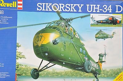 Two Revell 1/48 Scale Sikorsky UH-34D Model Kits