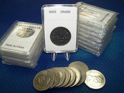 100 coin holders Slab for Can. Nickel $ and US Half-Dollar Early Issue**32.0mm**