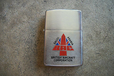 vintage 1982  Zippo Lighter British Aircraft Carrier Corp Saudi Arabia airplane