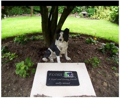 Pet Photo Memorial Slate Plaque Personalised including photo (New Larger Size)