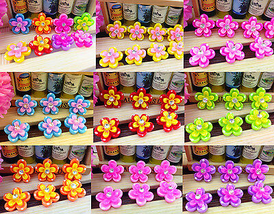 DIY 10/50/100pcs flower rhinestone Flatback Resin Cabochon Scrapbooking,Crafts