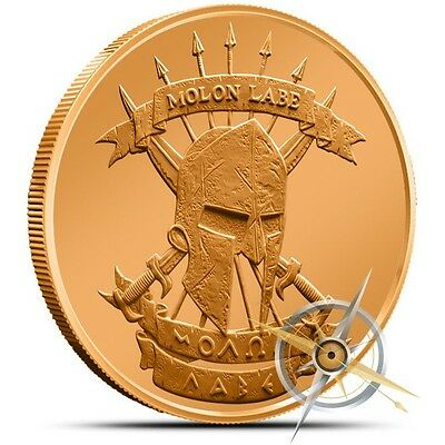 1 oz Copper Round - Molon Labe Come and Take It