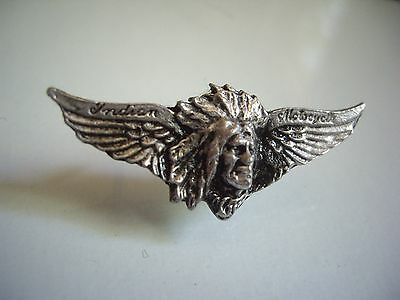 Vintage Indian Chief Motorcycle Wing Pin Classic Factory Lapel Dealership Badge