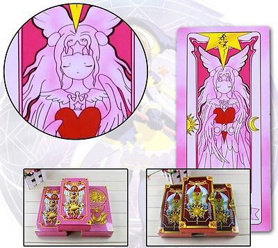 New 54 Pieces Anime Card Captor Sakura Clow Cards Cosplay Handpaint Pink&Brown