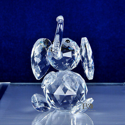 Crystal Facet Elephant Glass Animal Figurine Cute Wedding Favor Ornament Gifts