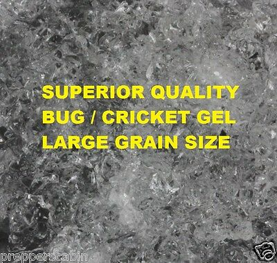 500g Dry Bug Gel Granules For Spiders Insects Cockroaches Crickets MAKES 125L !!