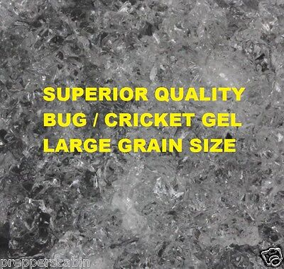 500g Water Gel Bug Gel Crystals for   Reptiles, Crickets & Insects  MAKES 125L !