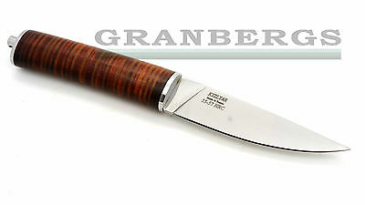 Kizlyar U-5 Fixed Blade Wood Working/Hunting Knife Leather Handle Russian Made