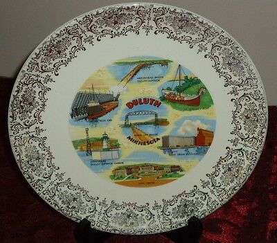"""DELUTH MINNESOTA 9.25"""" souvenir state collector's plate vintage"""