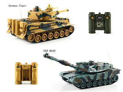 RC 1/28 battle infrared tanks with sound and light