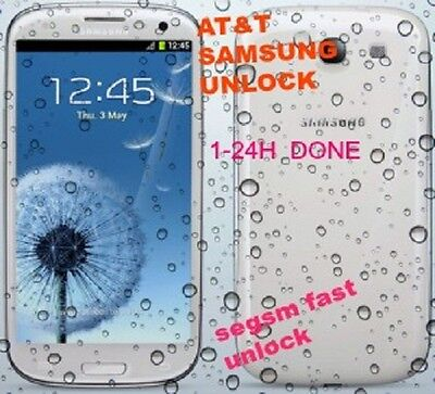AT&T USA ALL SAMSUNG   Factory Unlock code   instant -24h