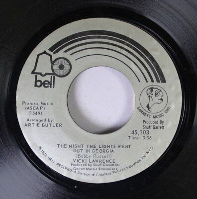 Rock 45 Vicki Lawrence - The Night The Lights Went Out In Georgia / Dime A Dance