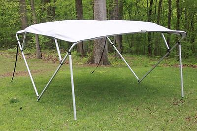 New Vortex Square Tube Frame 4 Bow Pontoon/deck Boat Bimini Top 12' Grey 91-96""