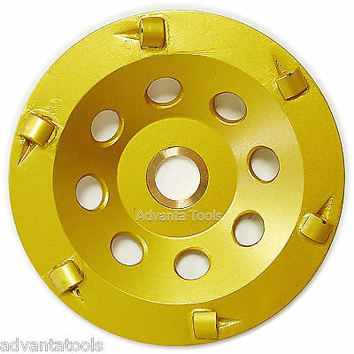 "4.5"" Quarter Round PCD Grinding Cup Wheel 6 Segments - 7/8""-5/8"" Arbor"