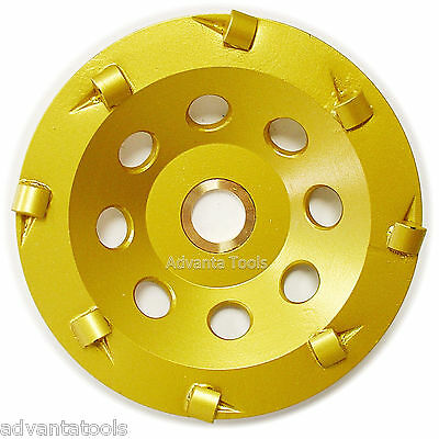 "4.5"" Quarter Round PCD Grinding Cup Wheel 8 Segments - 7/8""-5/8"" Arbor"