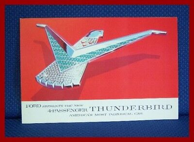 1958 Ford THUNDERBIRD Only Color Sales Brochure - Original NEW OLD STOCK