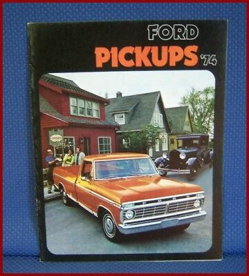1974 FORD Pickup Truck Color Sales Catalog Brochure - NEW OLD STOCK